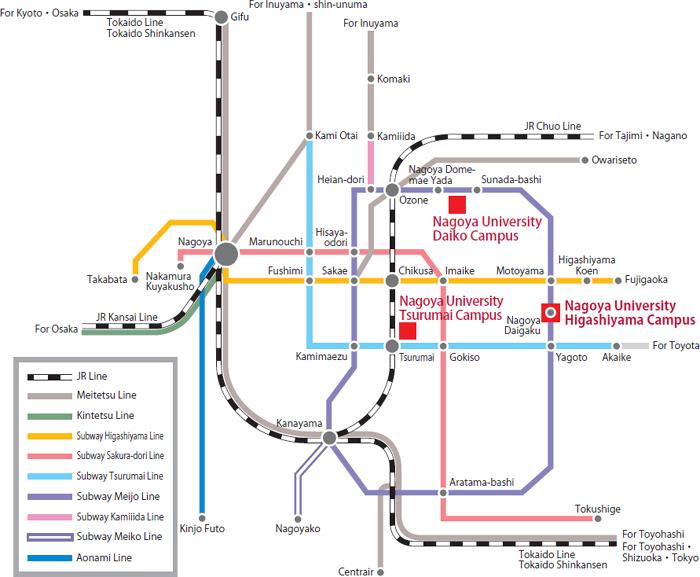 Nagoya Subway Map Pdf.Access Nagoya University Graduateschool Of Medicine