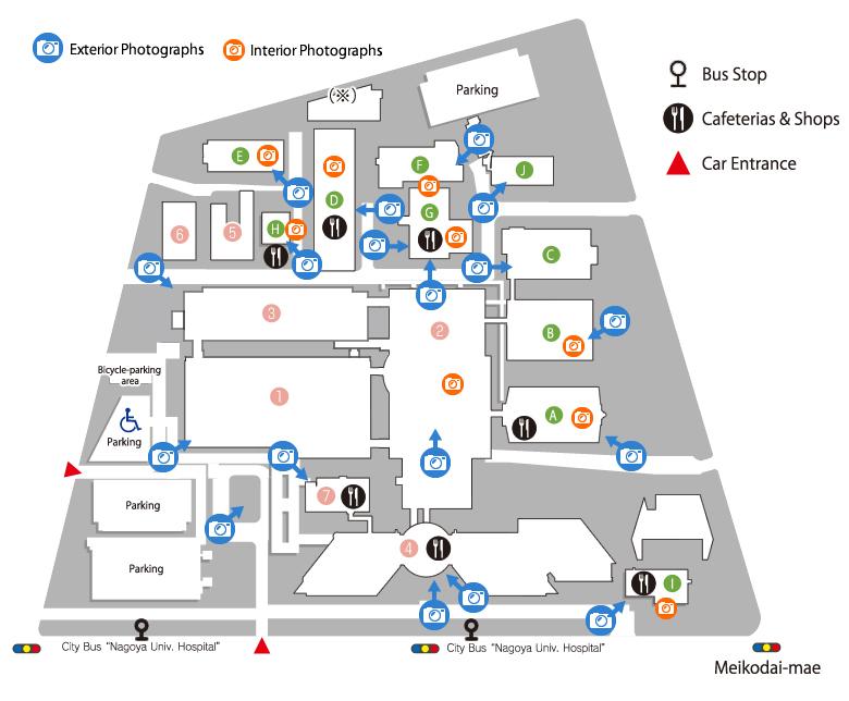 Ku Med Campus Map.Tsurumai Campus Map Campus Map Nagoya University Graduateschool